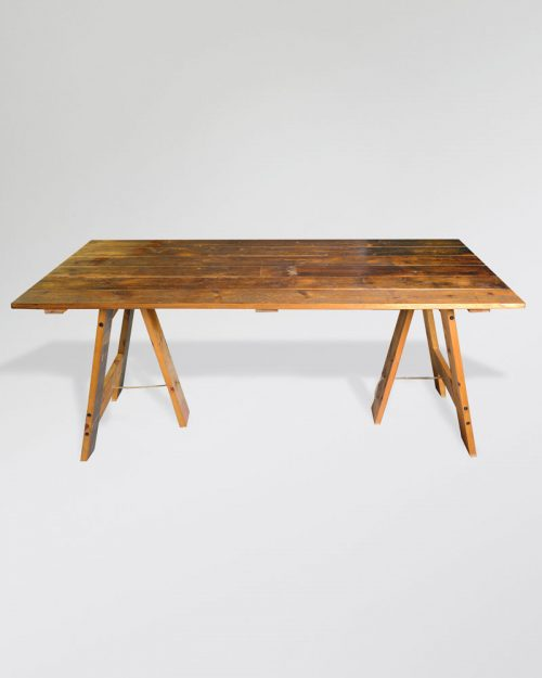 Vintage Trestle Table 007A