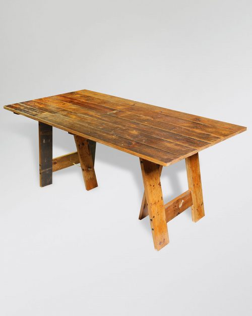 Vintage Trestle Table 008A