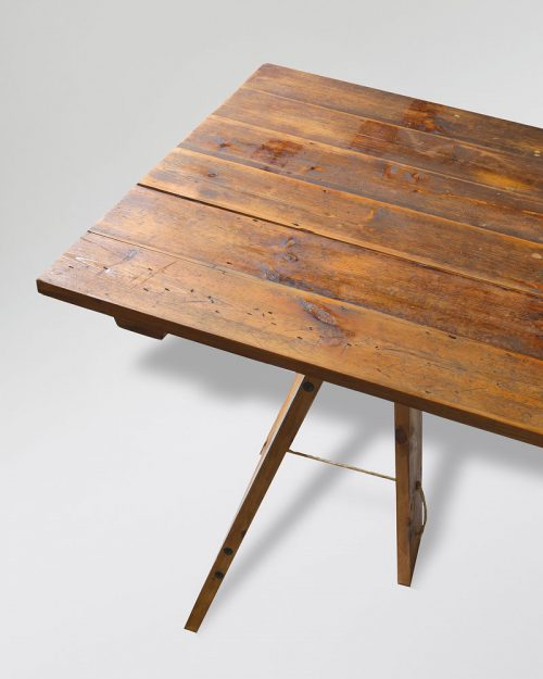 Vintage Trestle Table 009A