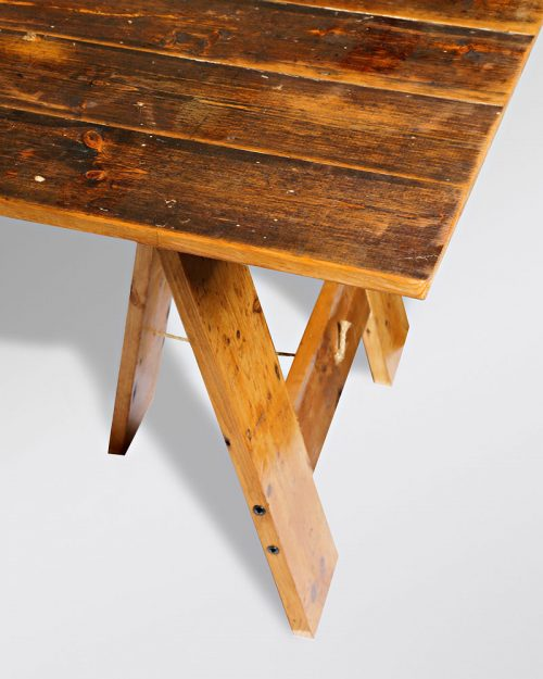 Vintage Trestle Table 010A
