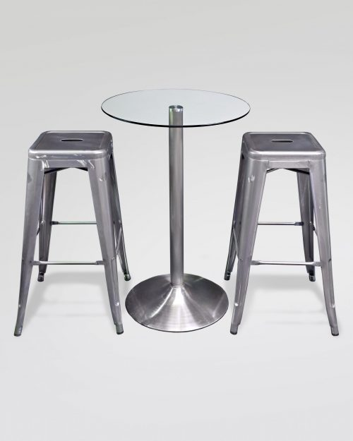 Gun-Metal-Tolix-Stool-Poseur-Table