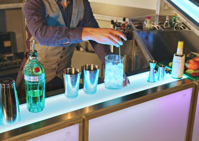 4.5m Centrepiece Contemporary LED Bar for up to 500 guests from Ice & Lime Mobile Bar Hire