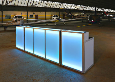 3.8m Contemporary Straight LED Bar | Ice & Lime Mobile Bar Hire | 200 guests